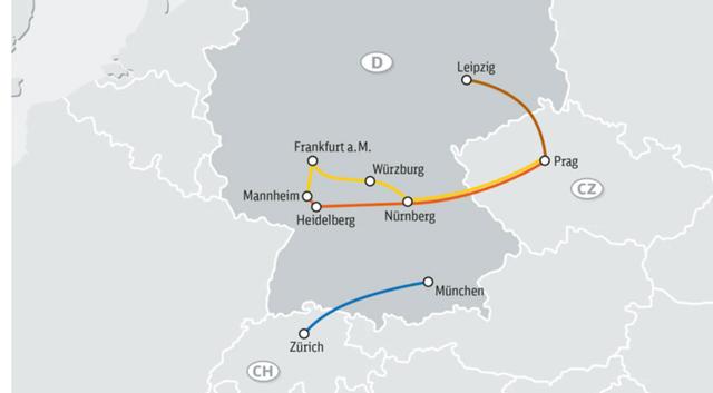 Das Streckennetz von IC Bus.