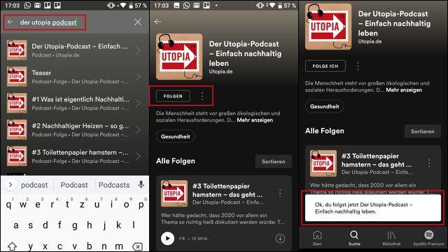 Utopia-Podcast auf Spotify abonnieren