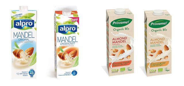 Verbreitet: Alpro Mandelmilch; als Milchersatz aber besser Bio vom gleichen Konzern nehmen: Provamel Mandeldrink