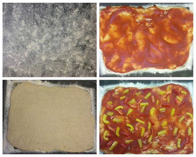 Mehl, Teig, Sauce, Belag - fertig ist die selbstgemachte Pizza.
