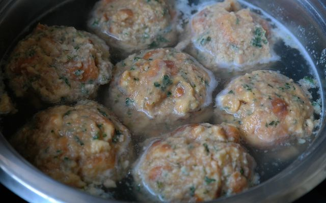 Traditional German dumplings stale bread