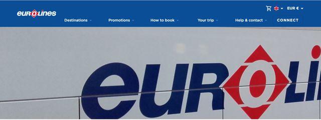 Das Logo von Eurolines.
