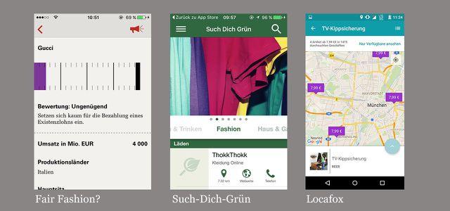 Gehören zu den besten Apps für Android, iOS: Fair Fashion?, Such-Dich-Gruen, Locafox