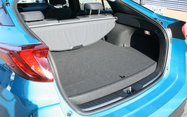Für ein Hybrid-Elektroauto kein schlechter Kofferraum