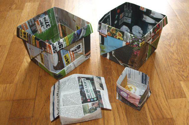 Biomüllbeutel kannst du aus alten Zeitungen ganz einfach selber falten.