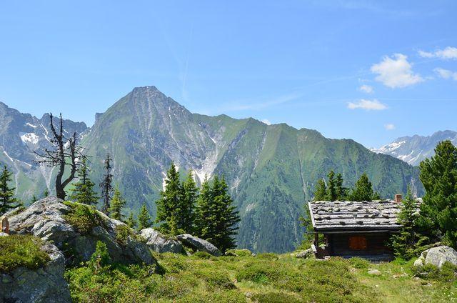 Der Klassiker unter den abgeschiedenen Urlaubsorten - eine Berghütte.