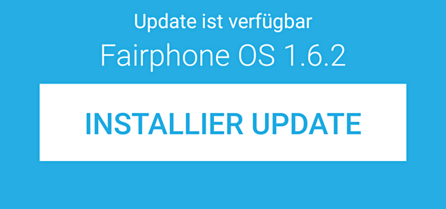 Fairphone 2 Fairphone OS Update 1.6.2.
