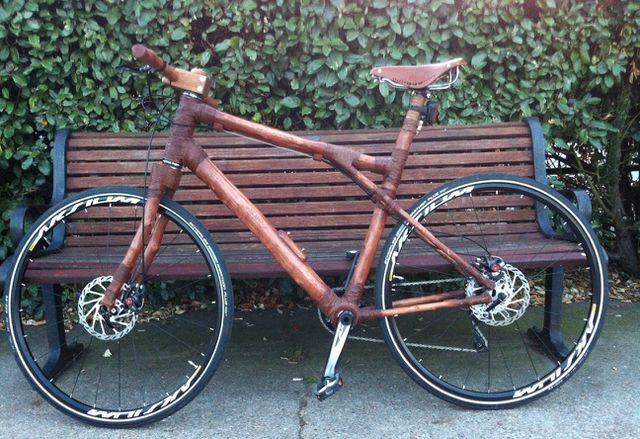 Aus schnell nachwachsendem Rückschnittholz hergestellt: Das Brown Bike von der englischen Firma Beamz.
