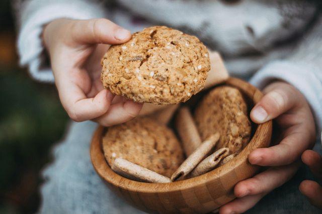 Vegane Kekse mit Hafer und Bananen