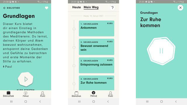 """Meditations-Apps """"7mind"""": 7 Minuten abschalten und sich in Gelassenheit üben"""