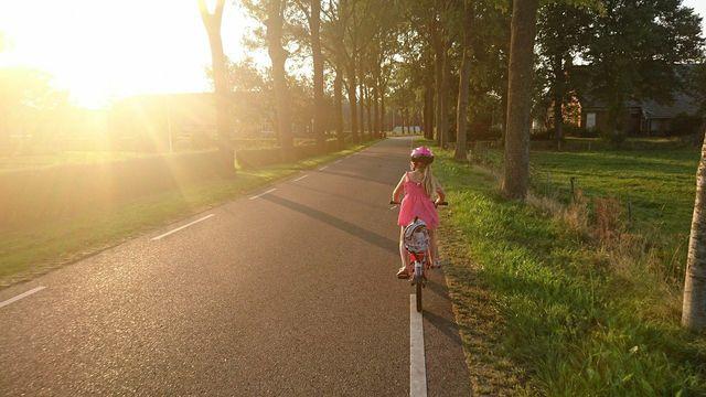 Fahrradfahren kann nicht nur Kindern Spaß machen, sondern ist auch umweltfreundlich.