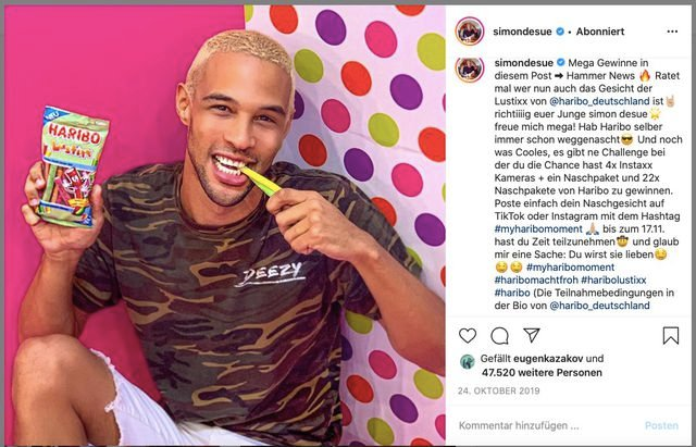 Foodwatch, Influencer, Haribo