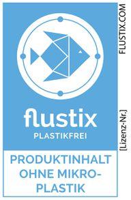 flustix plastikfrei – Produktinhalt ohne Mikroplastik