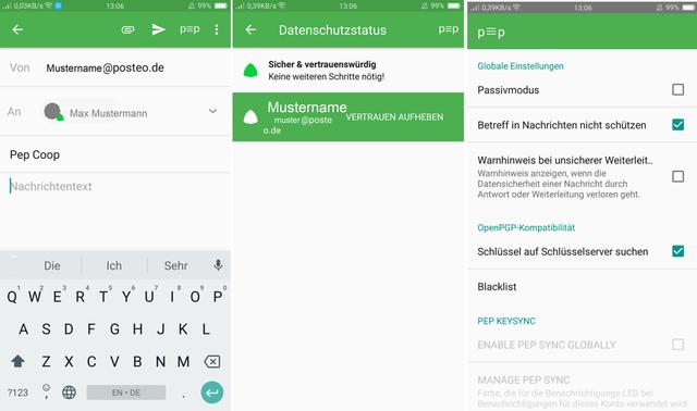 Pep Coop: Android Mail-App sieht aus wie die Gmail-App