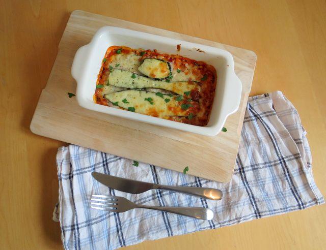 Zucchini-Bulgur-Lasagne