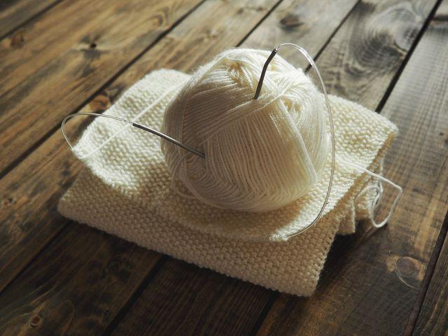 Wolle ist ein Naturmaterial.