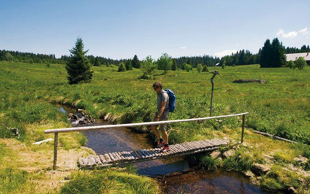 weitläufige naturbelassene Landschaft im Böhmerwald (Tschechien) Urlaub in Osteuropa