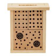 Ein insektenfreundliches Bienenhotels schafft Wohnraum für verschiedene Wildbienen-Arten.