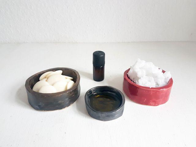 Zutaten für selbst gemachte Handcreme