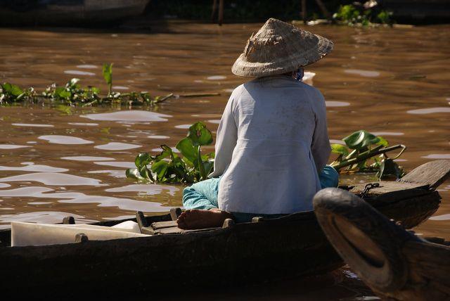 Auch Abwässer aus den Aquakulturen verschmutzen den Mekong