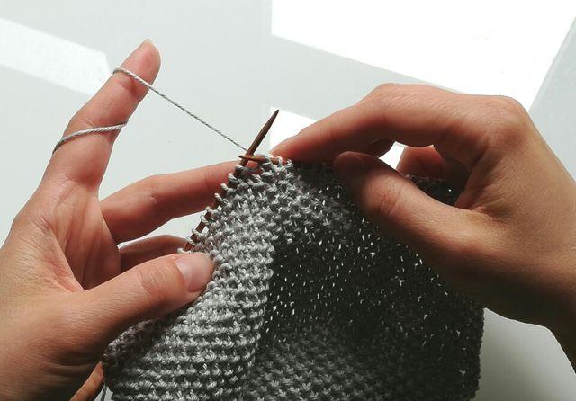 Das Perlmuster eignet sich von seiner Struktur her besonders für Spültücher.