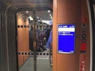 Sprinter ICE Schnellfahrtstrecke Berlin München Anzeige