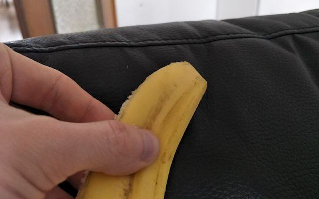 You can use banana peels to polish leather and other surfaces.