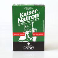 Natronpulver ist im Handel als Kaiser-Natron, Bullrich-Salz oder Natriumbicarbonat erhältlich.