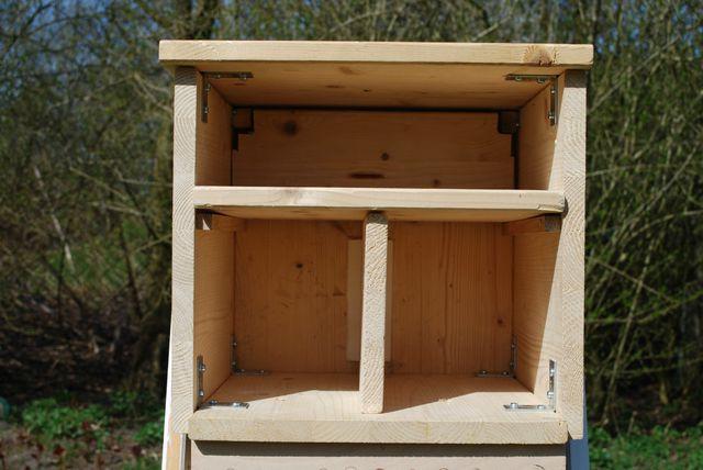 """Nach dem Anbringen des Holzblocks geht es an die Aufteilung der """"Zimmer""""."""