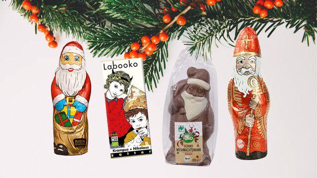 Schoko-Weihnachtsmaenner