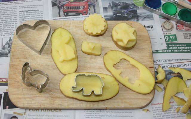 Nicht jede Form ist für den Kartoffeldruck geeignet.