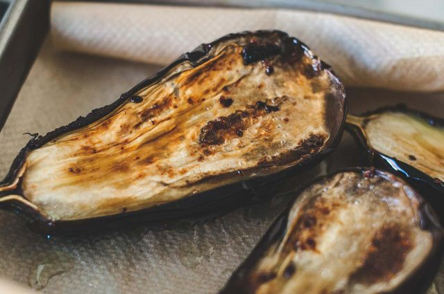 Due to high moisture content, it's best to cook eggplant before freezing