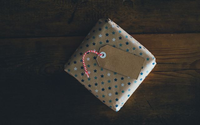 Recycled holiday wrapping paper