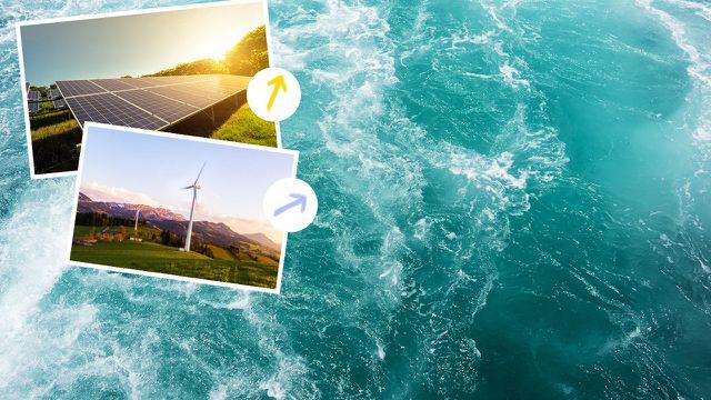 Ökostrom ist Strom aus erneuerbaren Energiequellen