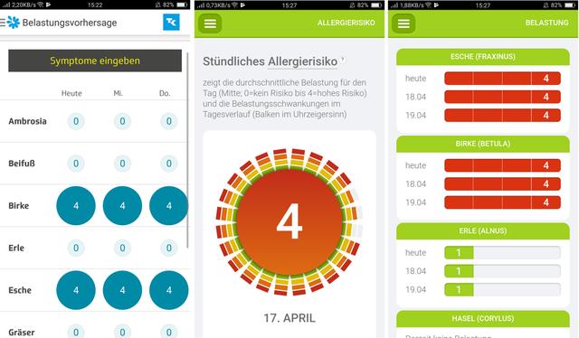 Pollenflug-Vorhersage per App