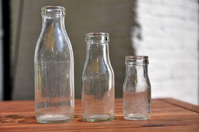 Leere Glasflaschen