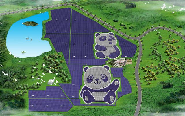 Panda Solarpark Panda Green Energy Entwurf