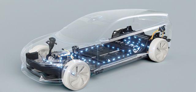 Elektroauto-Antrieb in einer Studie bei Volvo