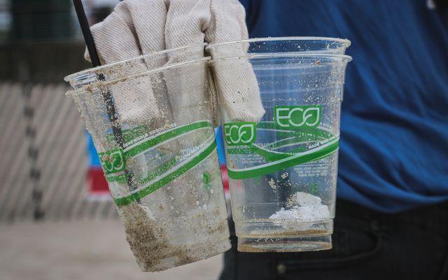 Einweggeschirr aus Bioplastik: solche Biokunstoffe sind selbst dann keine gute Idee, wenn sie biologisch abbaubar sind.