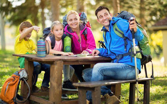 Familie Outdoor Abenteuer Flasche