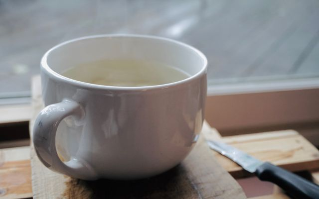 Ginger tea hot cup