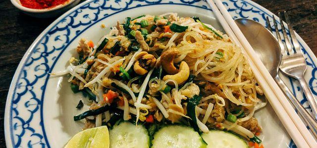 Glasnudeln Wok asiatisch vegetarisch vegan Rezept