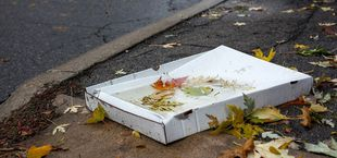 what should you do with the leftover pizza box? Is it recyclable?