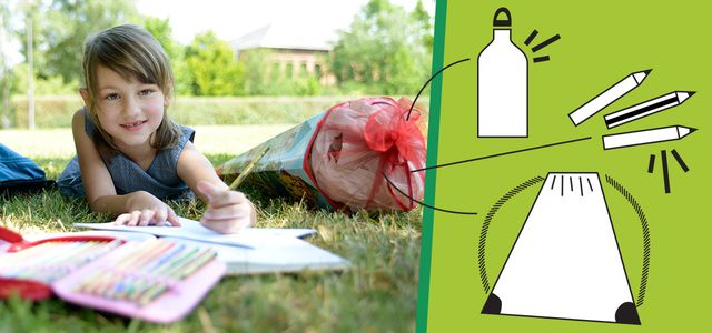 Eine Schultüte lässt sich auch nachhaltig befüllen