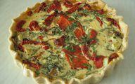 Quiche mit Spinat, Feta und Tomaten