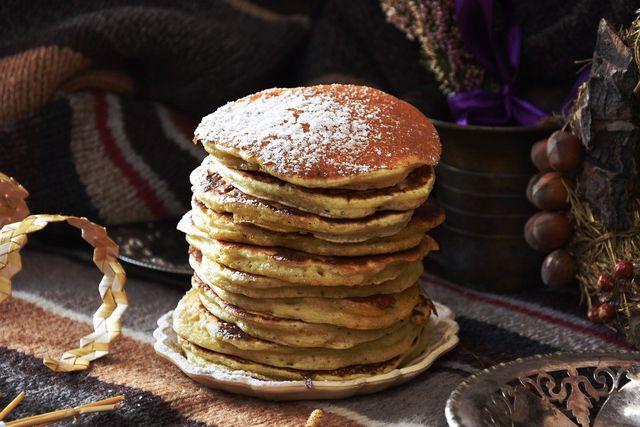 Pfannkuchen schmecken auch nur mit Puderzucker.