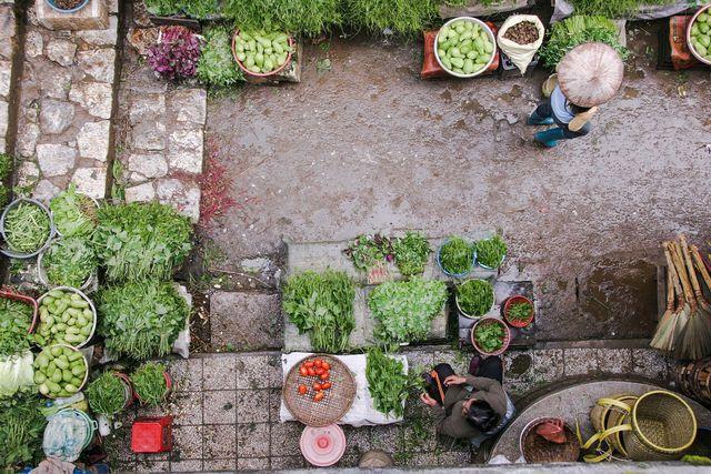 Agrarökologie beinhaltet die lokale Vermarktung von Lebensmitteln.