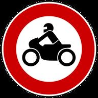 Verbot für Krafträder, Mofas und leistungsstarke E-Bikes