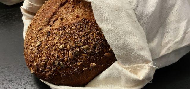 M BIO Baumwolle Brotbeutel Brot Brötchen Frischhaltebeutel Brotsack FAIRTRADE