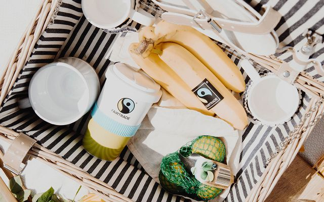 Fairtrade Produkte faires Picknick Sommer
